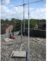 GB 3 Way Tower frame for flat roof mounting
