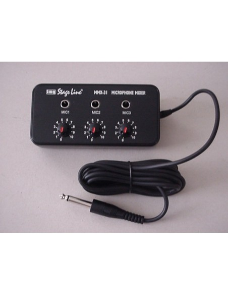 Microfoon Mixer MMX-31 voor 3 microfoons