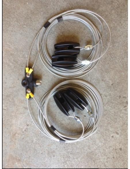GB 2 Band Fan Dipole 40-60m-coax-