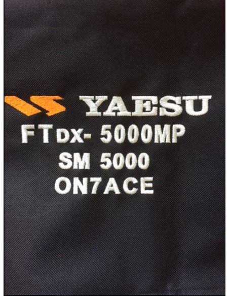 Dustcover for Transceivers and HF Tuners or Amplifier with callsign 4 layer