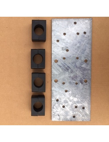 Comet element clamps black 30mm