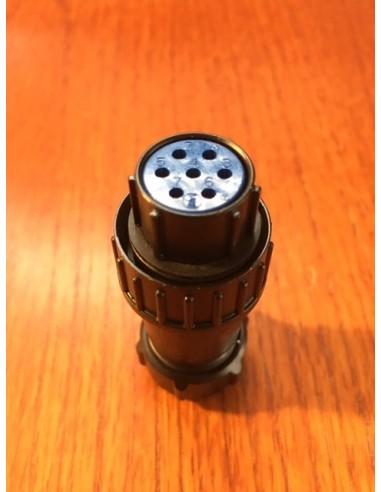 Yaesu 7 pin rotator connector black...